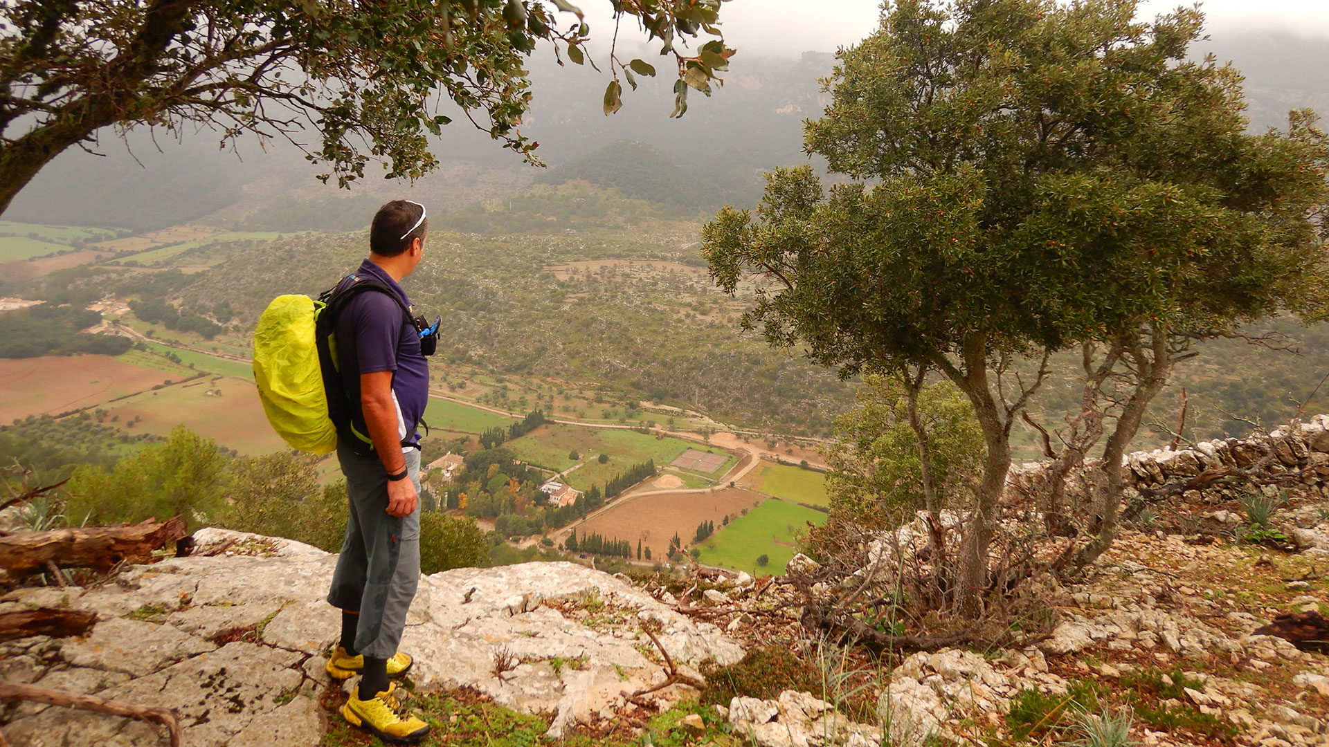 Serra Tramuntana. Pas de s'Escaleta-Castell d'Alaró